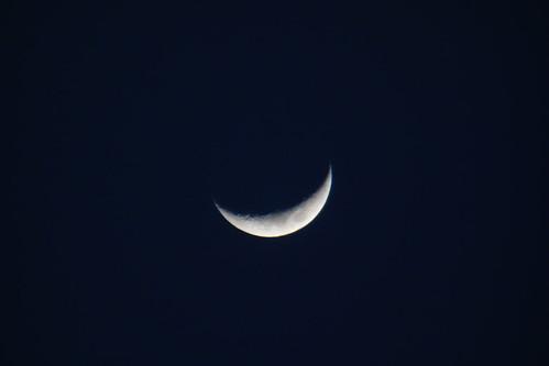 crescent moon_1 三日月の写真。