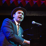 Wed, 14/01/2015 - 10:28am - The Hot Sardines perform at Joe's Pub in NYC for WFUV Members, 1/6/15. Photo by Gus Philippas.