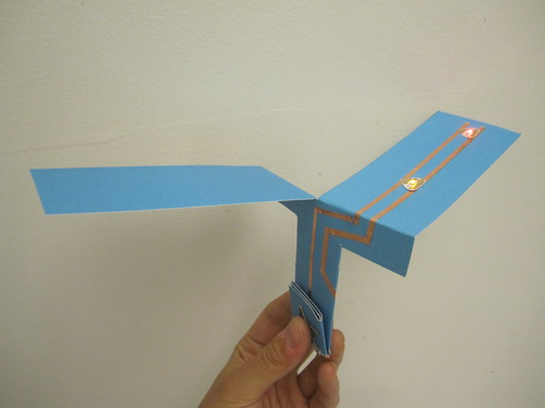 Light-Up Paper Helicopter - Chibitronics