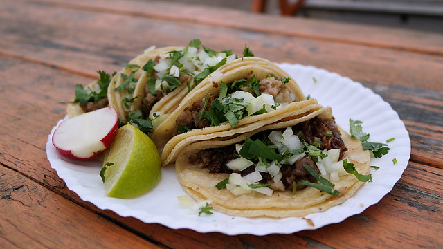 Cabeza Beef Cheek Tacos from Taco Alicia's on E 14th St in Des Moines, Iowa