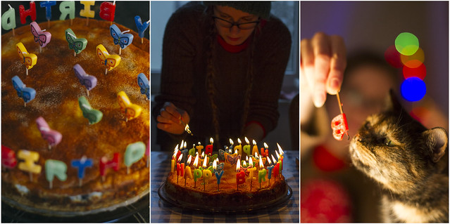 24.12.2014 Cake, Candles, Cat