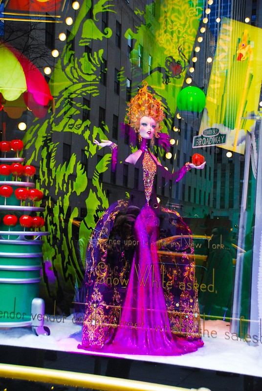 Saks fifth avenue NYC, Christmas window displays, Snow White fairy tale