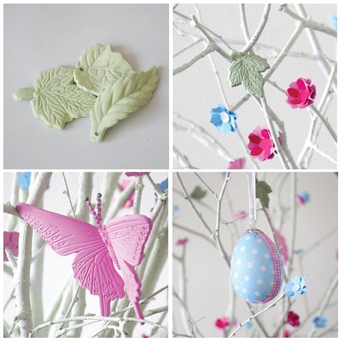 Easter tree step by step