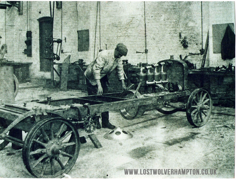 Sunbeam works,Wolverhampton.1903.First  16/20 model. W.Hopwood building car.