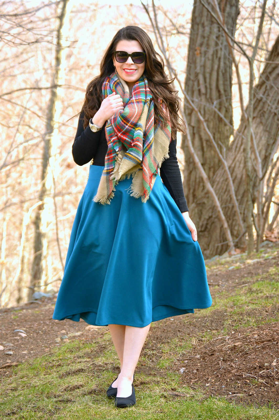blanket scarf skirt full