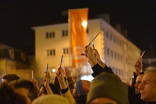 Mercredi 7 janvier 2015 : manifestation de soutien suite à l'attentat à Charlie Hebdo