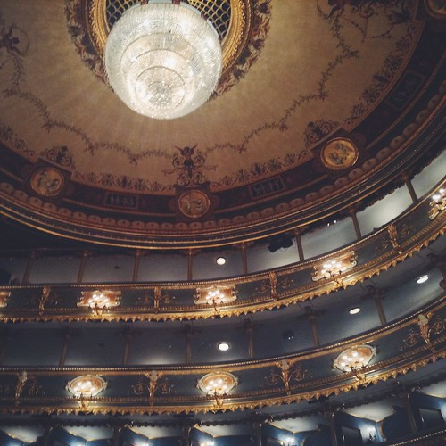 Prague's stunning Estates Theatre from a private box.