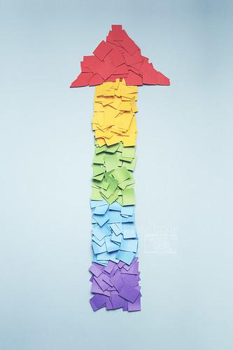 paper arrow...