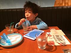 あたまボサボサ外食とらちゃん 2014/11