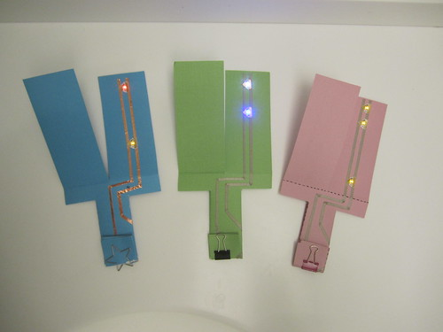 light up paper helicopter chibitronics