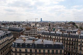 Vue sur le Sud de Paris depuis la terrasse des Magasins du Printemps