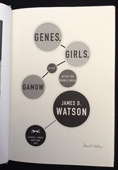 Genes Girls Gamow by James Watson inscription
