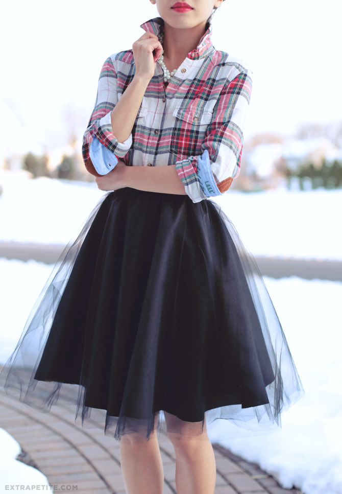 tulle circle skirt DIY tutorial4