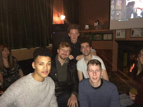 Peaky Blinders (L-R) Jordan, Paul, Harry, Adam and James at The Spotted Dog in Digbeth