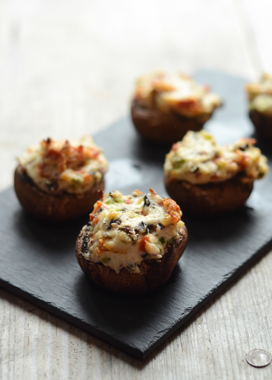 Pizza Stuffed Mushrooms | Buttered Side Up