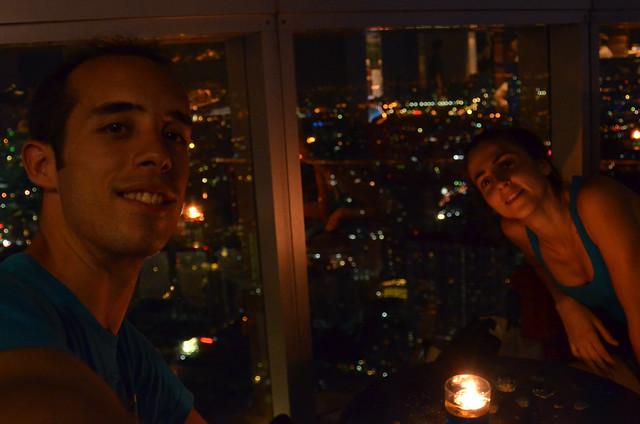 En el hotel Baiyoke de Bangkok