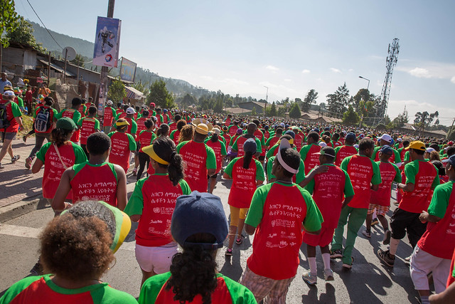 "Great Ethiopian Run held this year with a theme of ""Empower Women, Empower a Nation"""