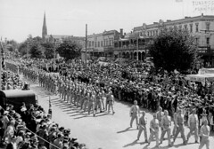 American Troops march through Ballarat (1942)