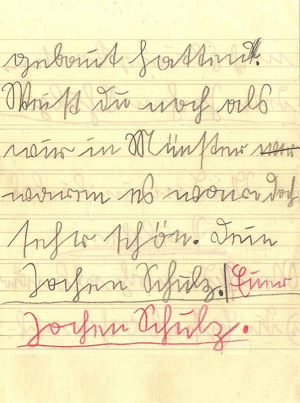Sütterlin Sütterlinschrift Kurrent Kurrentschrift alte deutsche Schriften Brief Kinderbrief 1936 schreiben lesen entziffern Transkription Brigitte Stolle