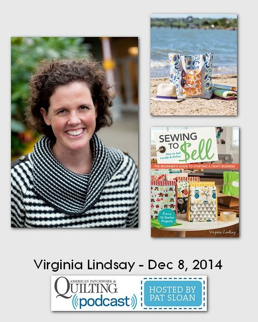 American Patchwork and Quilting Pocast Virginia Lindsay Dec 2014