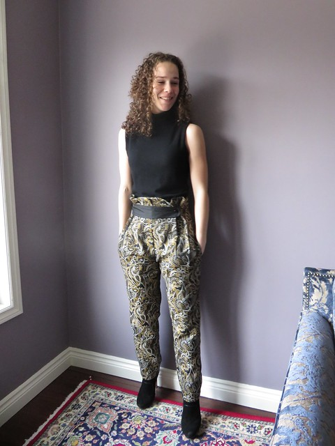 Burda 9-2014-113 brocade pants