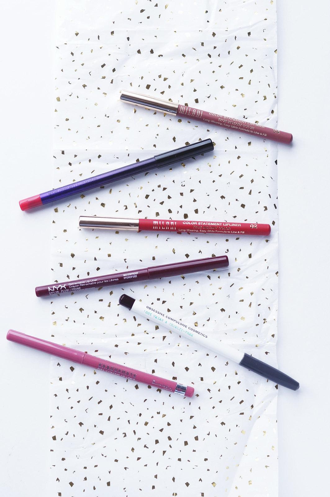 lip liner milani mac nyx rimmel occ obsessive compulsive cosmetics