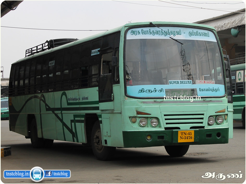TN-45N-3470 of Trichy Puranagar Depot Route Trichy - Coimbatore NonStop