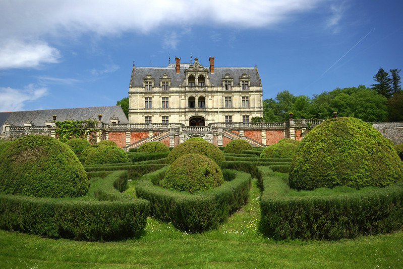 Garden of the La Bourdaisière castle