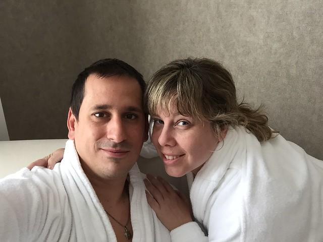 Sele y Rebeca en el Hotel Balneario Villa de Olmedo (Valladolid)
