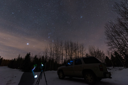 longexposure canada night alberta orion comet pleiades lovejoy selfie