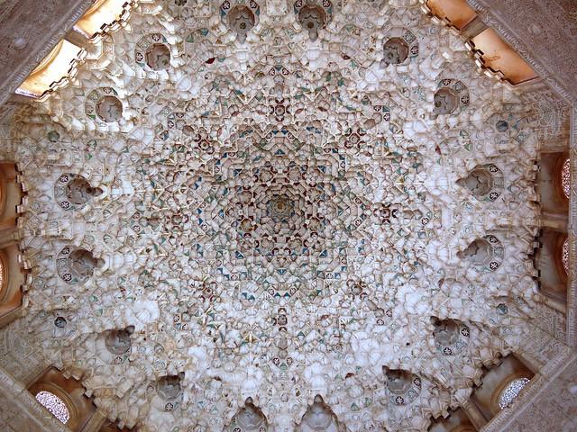 Spain Granada Alhambra Palace Muqarnas 1