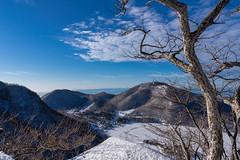 地蔵岳左に富士が顔を出す