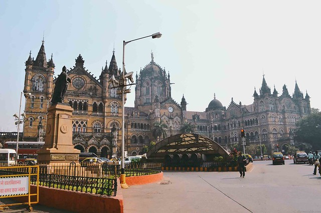 Mumbai Victoria Terminus CST | A Brown Table