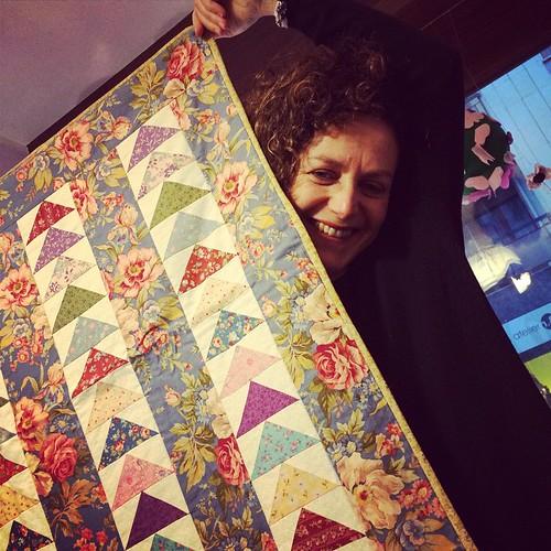 La fantastica Anna:) The fantastic @annamariaturchi :) #quilting #patchwork