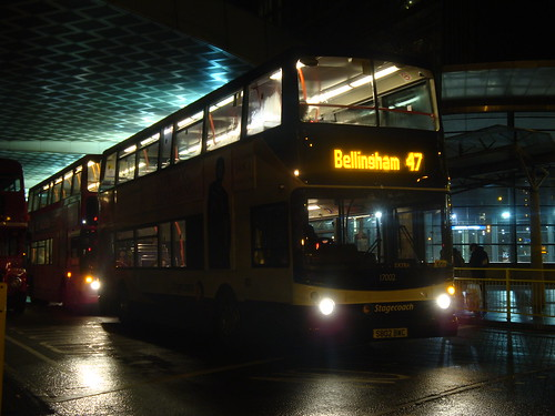 Stagecoach Manchester 17002 on Route 47 Extra, Canada Water