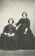 Philippa Bastian (nee Holman) and daughter Elizabeth (Mrs Richard Hill), circa 1846.