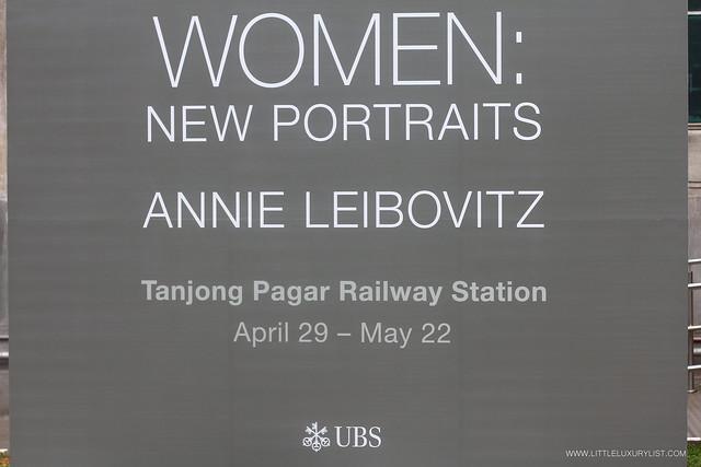 Women New Portraits by Annie Leibovitz sign