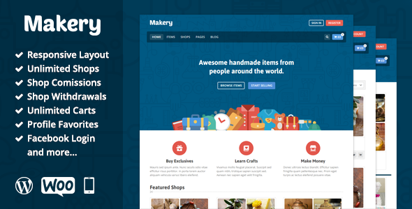 Makery v1.17 - Marketplace WordPress Theme