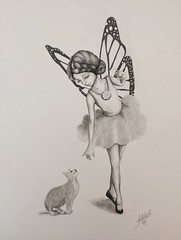 A fairy and her cat