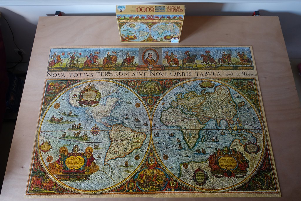Art puzzless most interesting flickr photos picssr 6000 piece puzzle historic world mapschmidt west germany gumiabroncs Choice Image