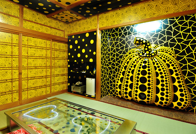 Memories of My Soul, and in Search of Diverse Happinesses by Yayoi Kusama at Takaraso Hotel