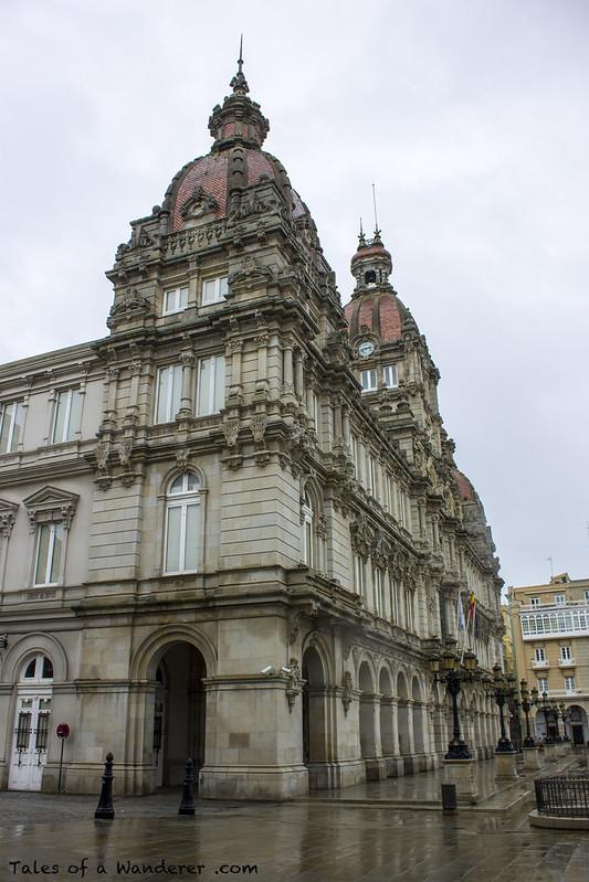 A CORUÑA - Praza de María Pita - Palacio Municipal