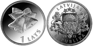 Latvia Christmas coin 2012