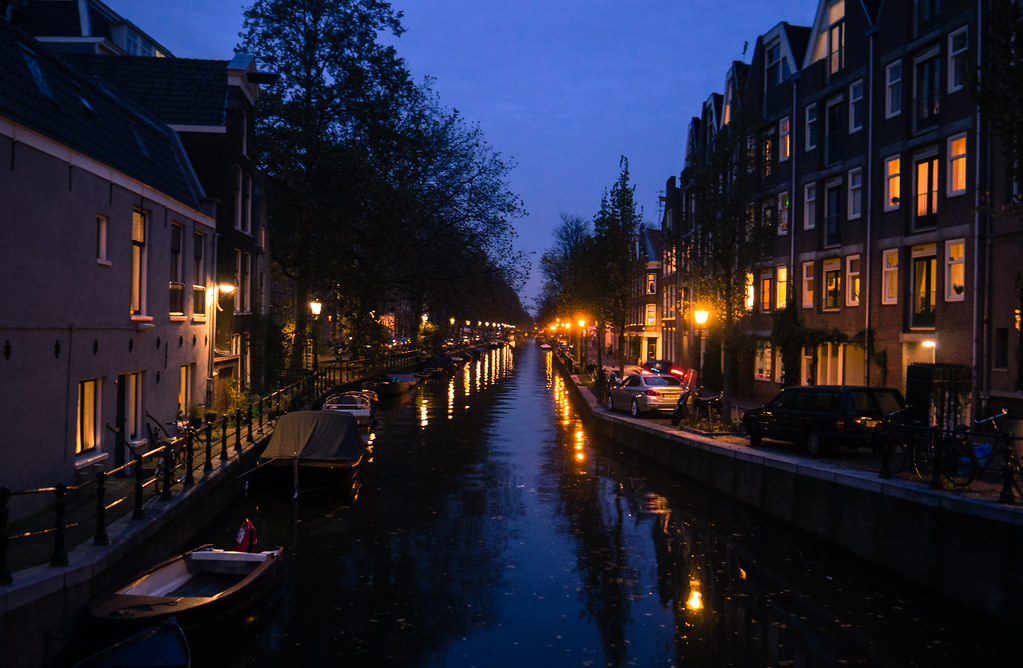 Night over the canals