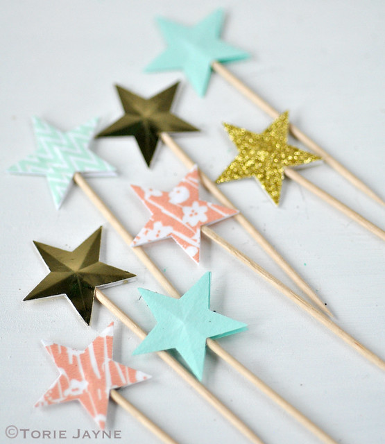 Star cupcake picks 3