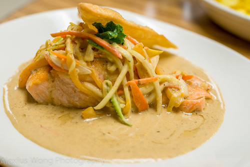 Salmon in Buerre Blanc Sauce