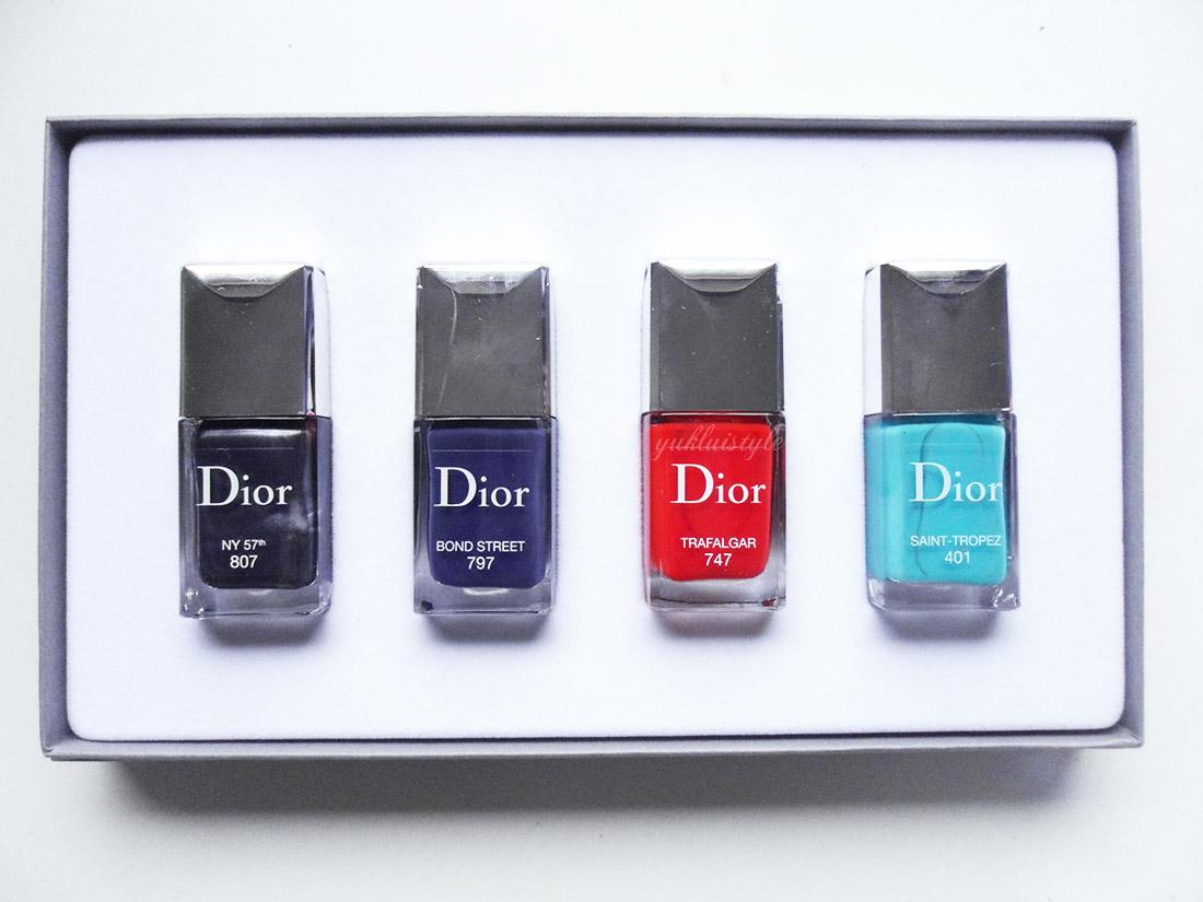 Dior Les Vernis Mythiques Set swatches