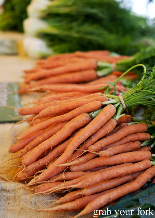 Certified organic Dutch carrots at Abbotsford Convent Slow Food Farmers Market