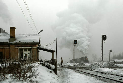china fog js province levelcrossing jilin 8231 chinarail mainlinesteam hunjiang baishancity