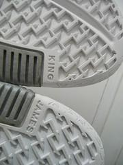 Nike Zoom Lebron II 2 Low SIZE 8.5 DEADSTOCK 2005 white/white-metallic silver